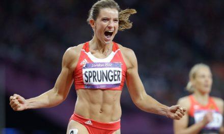 Lea Sprunger se classe au troIsième rang 400 m du meeting indoor de Düsseldorf