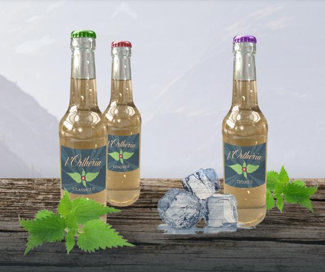L'Ortheria Une Boisson rafraîchissante 100% bio produite en suisse.