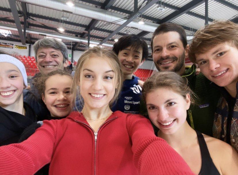 Stéphane Lambiel nouveau coach de la triple championne de Suisse de patinage artistique Alexia Paganini
