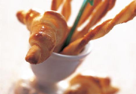 Recette Bio : Petits croissants au fromage bio