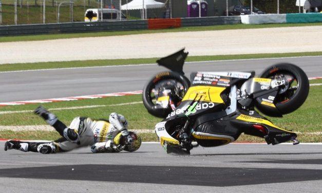 Motocyclisme – GP d'Aragon: Thomas Lüthi chute